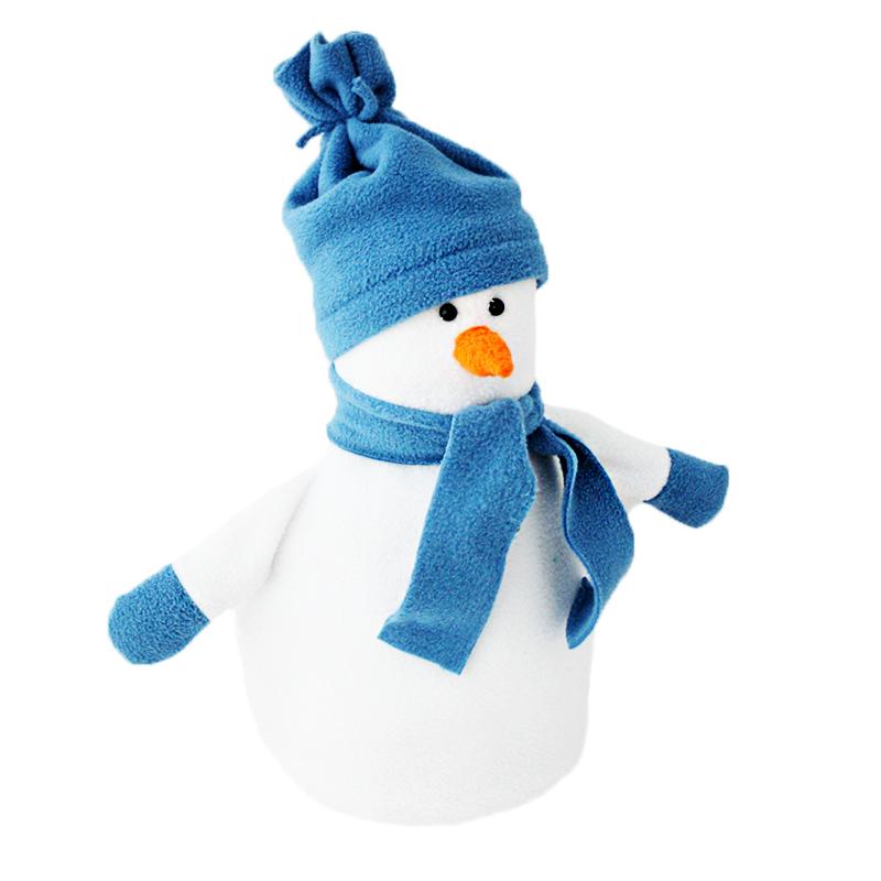 Снеговик в шапке и шарфе картинка фото
